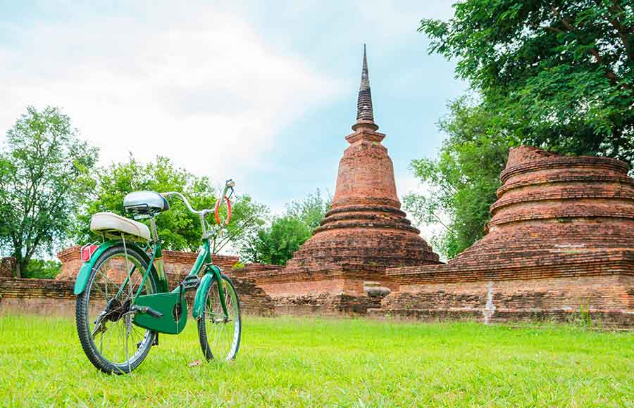 Sukhothai Old City, visiting by bicycle