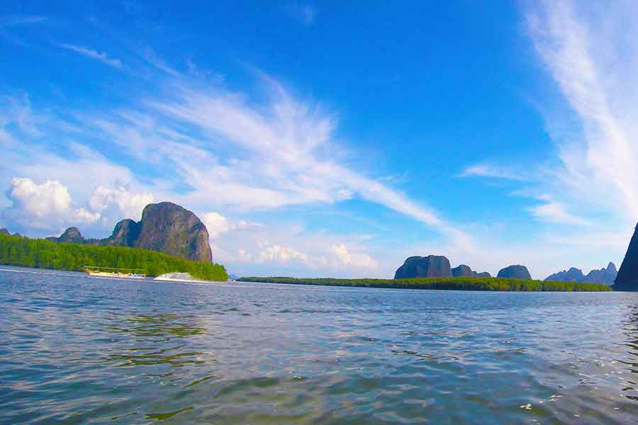 Reaching James Bond Island by Longtail Boat