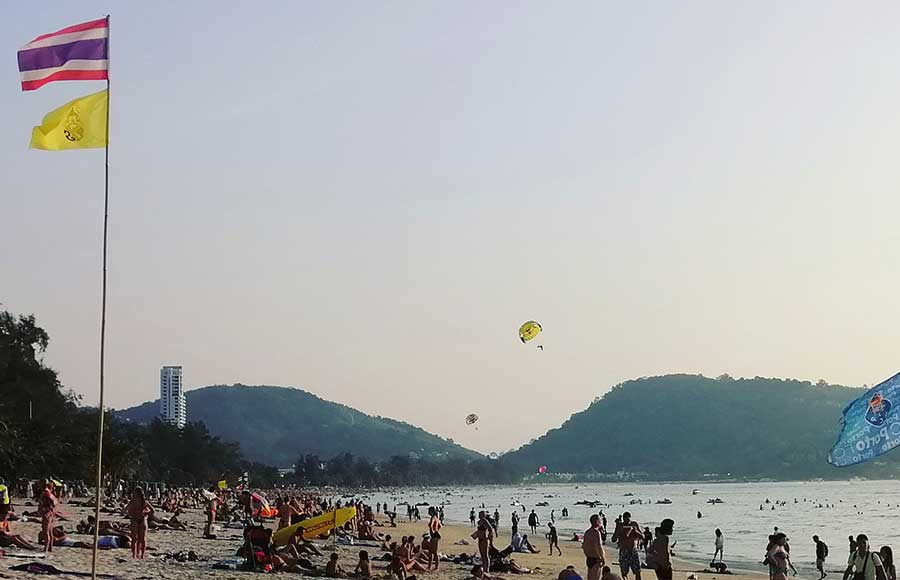 Differences between Phuket and Krabi beaches. Especially in Phuket and in locations such as Patong, the beach might get easily crowded during the high season