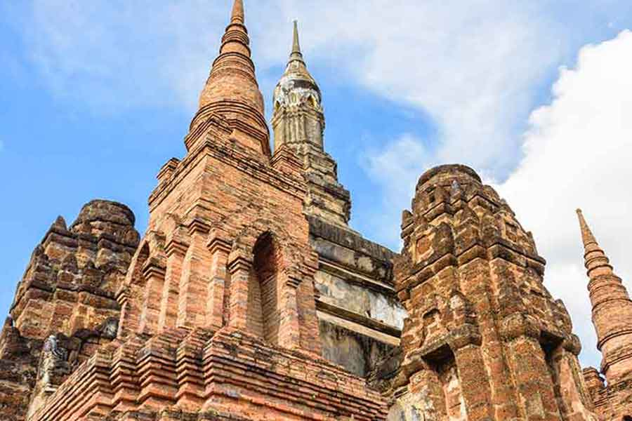 A weekend at Sukhothai Thailand. Ancient pagoda at Sukhothai Historical Park
