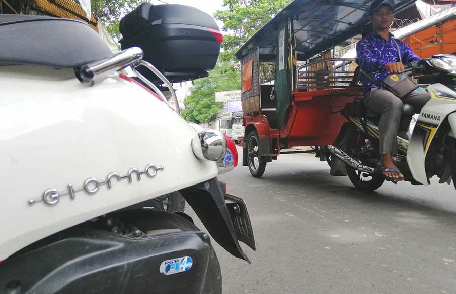 A typical street view of Phnom Penh. Nearby Toul Sleng